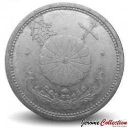 JAPON - PIECE de 10 Sen - Chrysanthème - Showa - 1943