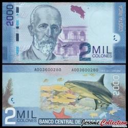COSTA RICA - Billet de 2000 Colones - 2009
