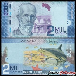 COSTA RICA - Billet de 2000 Colones - 2009