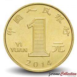 CHINE - PIECE de 1 YUAN - Année du Cheval - 2014
