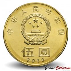 CHINE - PIECE de 5 YUAN - Paix - 2013