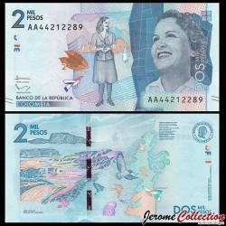 COLOMBIE - Billet de 2000 Pesos - 2015