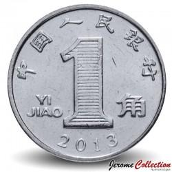 CHINE - PIECE de 1 Jiao - Fleur d'orchidée - 2013