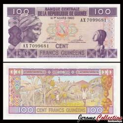 GUINEE - Billet de 100 Francs - 1985 P30a1