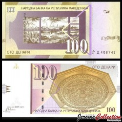 MACEDOINE DU NORD - Billet de 100 Denari - Ville de Skopje - 2004 P16e