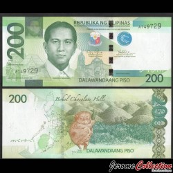 PHILIPPINES - Billet de 200 Piso - Tarsier des Philippines - 2010 P209a1