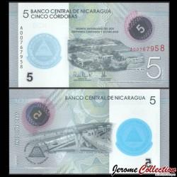NICARAGUA - Billet de 5 Córdobas - 60e anniversaire de la Banque centrale du Nicaragua - 2020 P219a