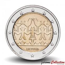 LITUANIE - PIECE de 2 Euro - Chants et danses lituaniennes - 2018 Km#New