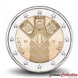 LITUANIE - PIECE de 2 Euro - Indépendance des Pays-baltes - 2018 Km#235