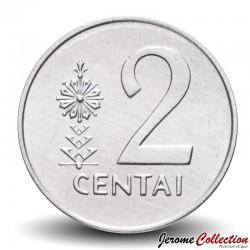 LITUANIE - PIECE de 2 Centai - Chevalier - 1991 Km#86