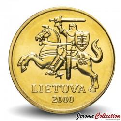 LITUANIE - PIECE de 50 Centu - Chevalier - 2000