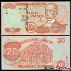 BOLIVIE - Billet de 20 Bolivianos - 2017 P244a2