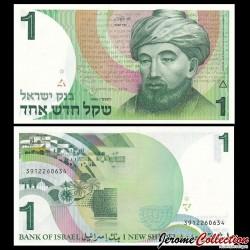 ISRAEL - Billet de 1 Nouveau Sheqel - Moïse Maïmonide - 1986 P51A