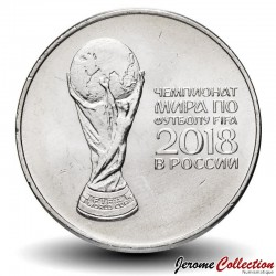 RUSSIE - PIECE de 25 Roubles - Coupe du monde de Football - 2017 / 2018 CBR#5015-0015