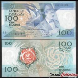 PORTUGAL - Billet de 100 Escudos - Fernando Pessoa - 1986 P179a5