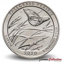 ETATS UNIS / USA - PIECE de 25 Cents - America the Beautiful - Tallgrass Prairie - Kansas - 2020 - S Km#New