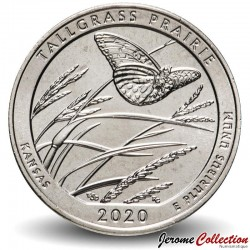 ETATS UNIS / USA - PIECE de 25 Cents - America the Beautiful - Tallgrass Prairie - Kansas - 2020 - D Km#New