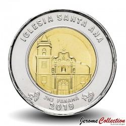 PANAMA - PIECE de 1 BALBOA - L'église de Santa Ana - 2019 Km#New