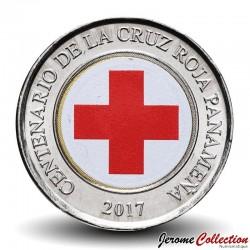 PANAMA - PIECE de 1 BALBOA - Centenaire de la Croix-Rouge panaméenne - Colorisée - 2017 Km#New
