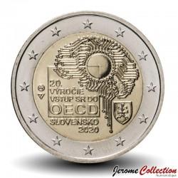 SLOVAQUIE - PIECE de 2 Euro - Adhésion Slovaque à l'OCDE - 2020 Km#new