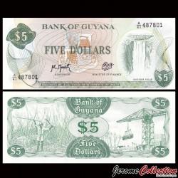 GUYANA - Billet de 5 DOLLARS - Chutes de Kaieteur - 1989 P22f2