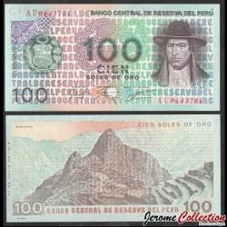 PEROU - Billet de 100 Soles de Oro - Tupac Amaru II / Machu Picchu - 1976 P114a