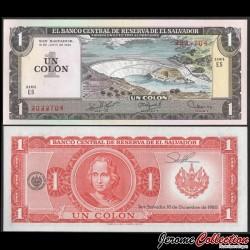 SALVADOR - Billet de 1 Colon - Barrage hydroélectrique / Christophe Colomb - 19.6.1980 P125b3