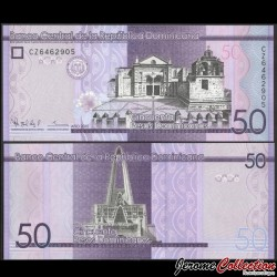 REPUBLIQUE DOMINICAINE - Billet de 50 PESOS - Cathédrale Santa Maria la Menor - 2015 P189b