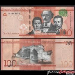 REPUBLIQUE DOMINICAINE - Billet de 100 PESOS - Les fondateurs de la République dominicaine - 2016 P190c