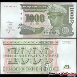 ZAIRE - Billet de 1000 Nouveaux Zaïres - Mobutu - 30.1.1995 P66a