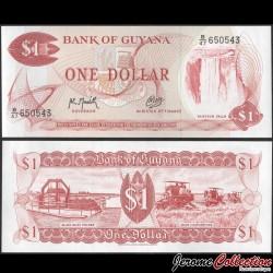 GUYANA - Billet de 1 DOLLAR - Chutes de Kaieteur - 1992 P21g2