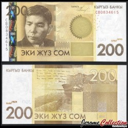 KIRGHIZISTAN - Billet de 200 Som - Alykul Osmonov - 2010 P27a