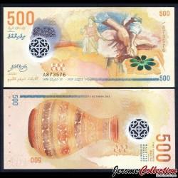 MALDIVES - Billet de 500 Rufiyaa - Polymer - 2015 P30a