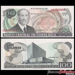 COSTA RICA - Billet de 100 Colones - Ricardo Jimenez - 1993 P261a
