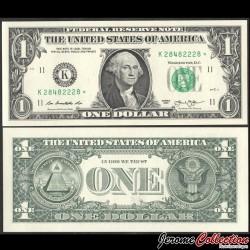 ETATS UNIS / USA - Billet de 1 DOLLAR - K(11) Dallas - Etoile - 2013 P537aK