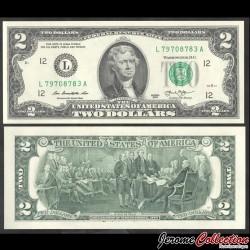 ETATS UNIS / USA - Billet de 2 DOLLARS - L(12) San Francisco - Fw - 2013 P538aL
