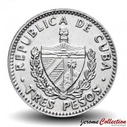 CUBA - PIECE de 3 PESOS - Ernesto Che Guevara - 1992