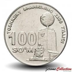 OUZBEKISTAN - PIECE de 100 Som - Monument de la bonté - 2009 Km#32
