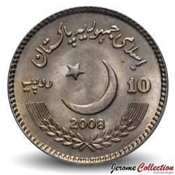 PAKISTAN - PIECE de 10 Roupies - Benazir Bhutto - 2008