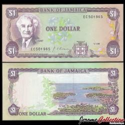JAMAIQUE - Billet de 1 DOLLAR - Sir Alexander Bustamante - 01.01.1990 P68Ad