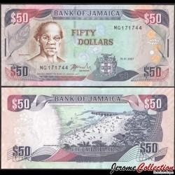 JAMAIQUE - Billet de 50 DOLLARS - Samuel Sharpe - 15.01.2007 P83b