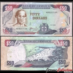 JAMAIQUE - Billet de 50 DOLLARS - Samuel Sharpe - 15.01.2008 P83c