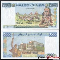 DJIBOUTI - Billet de 2000 Francs - Caravane de Chameaux - 2008 P43a