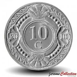 ANTILLES NEERLANDAISES - PIECE de 10 Cents - Fleur d'oranger - 2010 Km#34