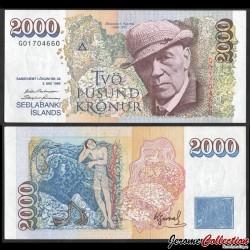ISLANDE - Billet de 2000 Kronur - Jóhannes S. Kjarval - 1995 P57a1