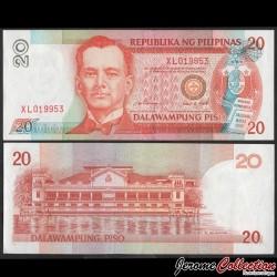 PHILIPPINES - Billet de 20 Piso - Manuel Quezon - 1995 P182a