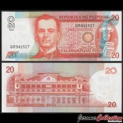 PHILIPPINES - Billet de 20 Piso - Manuel Quezon - 1999 P182c2