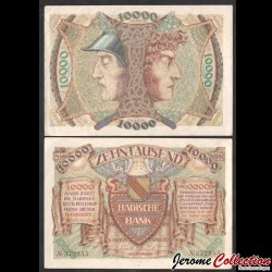 ALLEMAGNE / Badische Bank - Billet de 10000 Mark - 1923 Ps910a