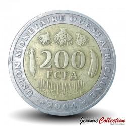 ETATS DE L'AFRIQUE DE L'OUEST - PIECE de 200 FRANCS - 2004 Km#14