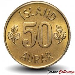 ISLANDE - PIECE de 50  Aurar - 1974
